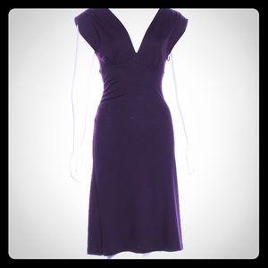 Diane Von Furstenberg purple wool dress